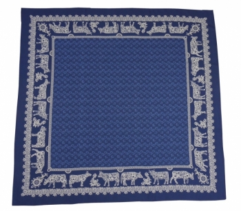 COW EMBROIDERY BLUE