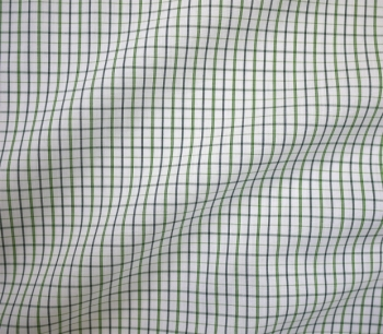 SHIRTING MATERIAL CHECKED 1609 green/w..