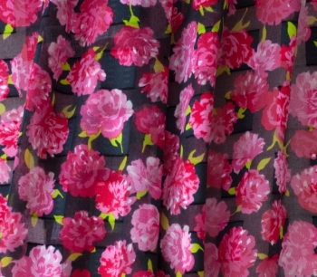 Printed cut voile 22827