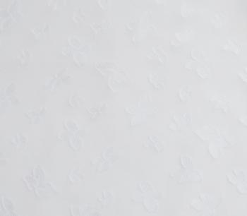 CUT VOILE JACQUARD FEUILLE white