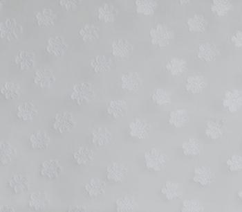 CUT VOILE JACQUARD FLOWER white