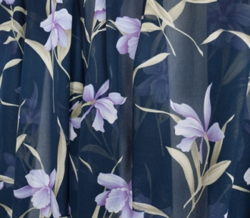 PRINTED VOILE 22385 navy-lila