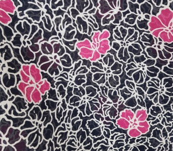 PRINTED VOILE FLORAL 22879