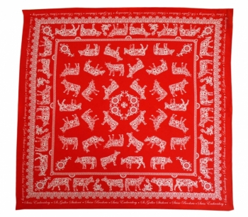 COW EMBROIDERY RED