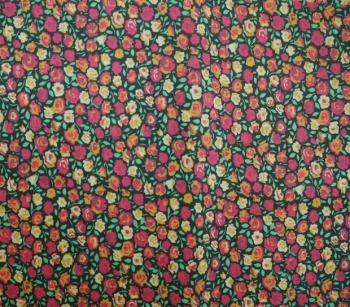 Cotton Lawn 22717 fuchsia-orange-lightyellow-green-black
