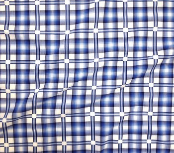 SHIRTING MATERIAL CHECKED 885612 blue/white