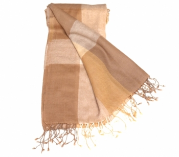 SCARF CHECK beige