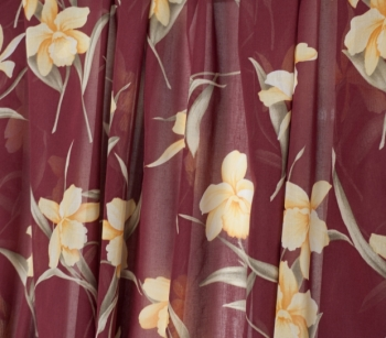 PRINTED VOILE 22385 wine-gold