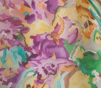 PRINTED JACQUARD SILK S31 yellow/viola/green/light blue/orange/brown/light grey