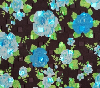 PRINTED CUT VOILE 22779 black-green-blue