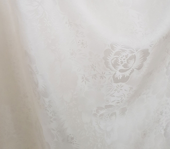 SILK JACQUARD WITH FLOWERS S609 offwhite