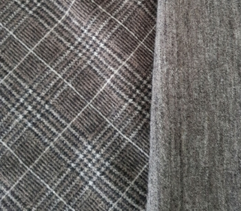 WOOL two-sided W124 grey-brown-black-white