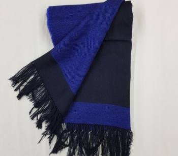 Alpaka Schal schwarz - dunkelblau