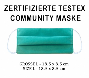 COMMUNITY MASK - EMPA TESTED - SIZE L turquoise