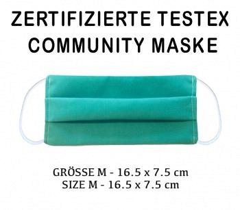TESTEX TESTED - COMMUNITY MASK - SIZE M turquoise