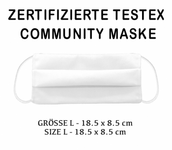 TESTEX TESTED COMMUNITY MASK - SIZE L  WHITE