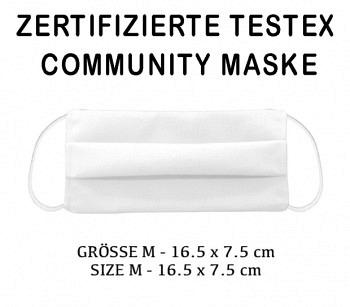 TESTEX TESTED COMMUNITY MASK - SIZE M  WHITE