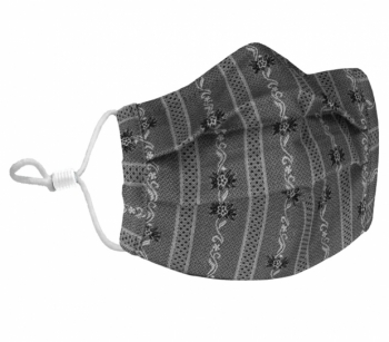 Reusable fabric - hygiene masks Edelweiss black ST.MORITZ