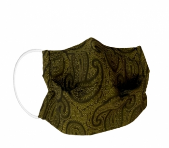 Reusable fabric - hygiene masks PAISLEY  YELLOW