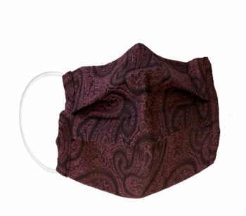 Reusable fabric - hygiene masks PAISLEY pink