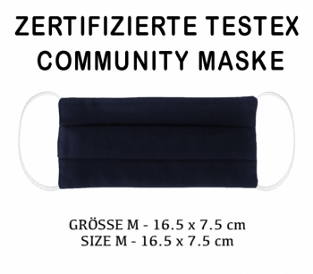 TESTEX TESTED COMMUNITY MASK - SIZE M - navy