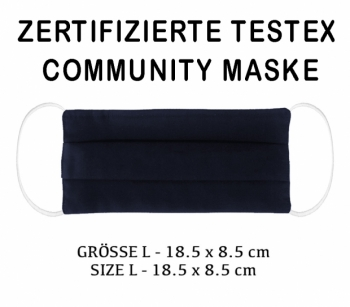 TESTEX TESTED COMMUNITY MASK - SIZE L - navy