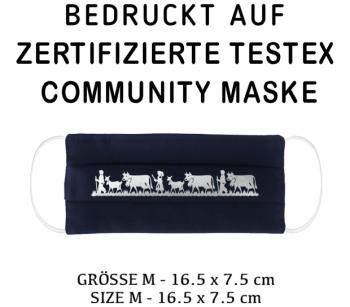 PRINTED TESTEX TESTED - COMMUNITY MASK - SIZE M navy - ALPAUFZUG