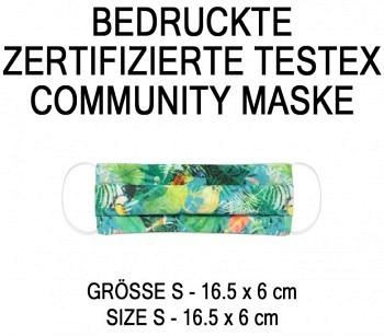 PRINTED TESTEX TESTED COMMUNITY MASK - SIZE S - JUNGLE
