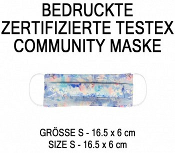 PRINTED TESTEX TESTED COMMUNITY MASK - SIZE S - SWEET