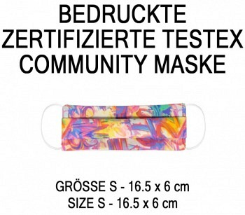 PRINTED TESTEX TESTED COMMUNITY MASK - SIZE S  FUNKY