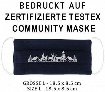 PRINTED TESTEX TESTED COMMUNITY MASK - SIZE L navy