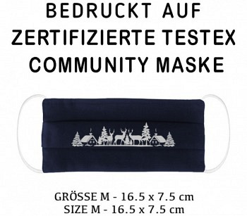 PRINTED TESTEX TESTED - COMMUNITY MASK - SIZE M navy