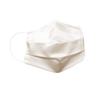 Reusable silk fabric - hygiene mask M  IVORY