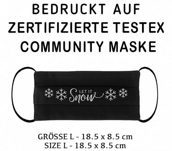 PRINTED TESTEX TESTED COMMUNITY MASK - SIZE L Black