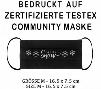 PRINTED TESTEX TESTED COMMUNITY MASK - SIZE M black