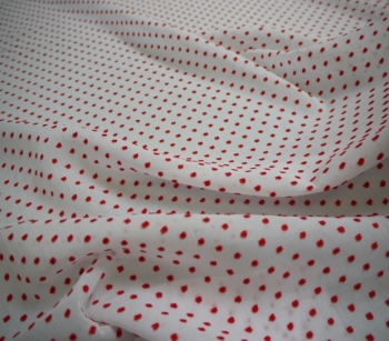 SWISS DOTS 2-COLOURED white/red